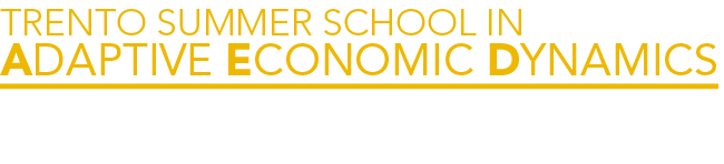 Trento Summer School in Adaptive Economic Dynamics