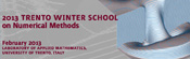 2013 Winter School on Advanced Numerical Methods