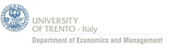 Department of Economics and Management, University of Trento