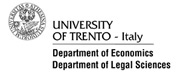 University of Trento - Department of Economics - Department of Legal Science