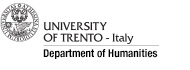 University of Trento, Department of Humanities
