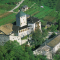 Castel Ivano, Ivano Francena, Trento (veduta aerea)
